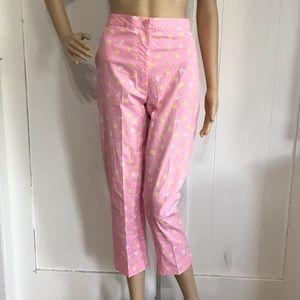 Lilly Pulitzer Pink Firefly Capri Pants